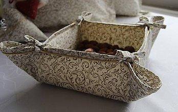 Košíky - košík na pečivo - vianočný motív - 4557933_