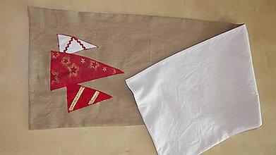 Úžitkový textil - Vianočný obrus - štóla STROMČEKY - 4556562_