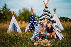- Týpi Indiánsky stan - Čierny trojuholník - 4555054_