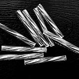 - Preciosa 20mm-krútené tyčky-20ks (strieborná) - 4557785_