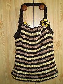 Kabelky - Žlto-čierna pásavka - 4557198_