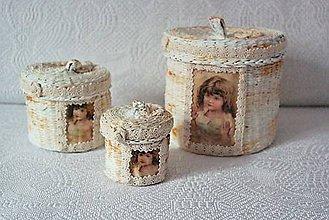 Drobnosti - Vintage trio dózičky... - 4555937_