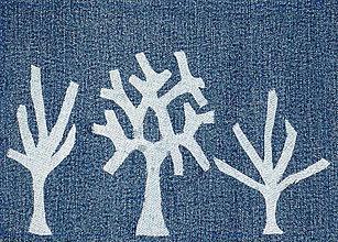 Úžitkový textil - Ovocný sad - riflový obraz - 4556887_