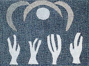 Úžitkový textil - Memento - riflový obraz - 4556943_