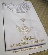 Detské oblečenie - Košieľka na krst K30 zlatá - 4555135_