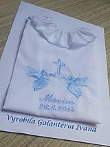 Detské oblečenie - Košieľka na krst K33 modrá pre chlapčeka - 4555155_