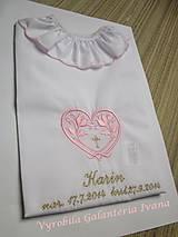 Detské oblečenie - Košieľka na krst K42 ružovo-zlatá - 4555170_