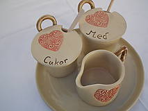 Nádoby - Zákazka: Súprava na kávičkovanie srdcia ornament - 4559813_