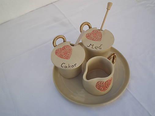 Zákazka: Súprava na kávičkovanie srdcia ornament