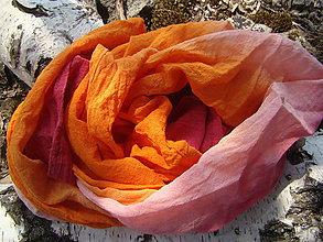 Šály - Oranžová malina - 4562817_