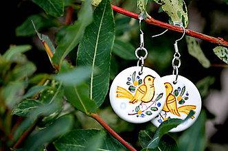 Náušnice - Náušnice s vtáčikom - 4560187_