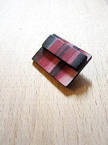 Odznaky/Brošne - Dřevěná brož malovaná - 4558759_