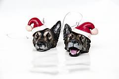 Nemecký ovčiak - závesná vianočná dekorácia