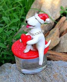 Svietidlá a sviečky - Krabička a svietnik v jednom - vianoce podľa fotografie zvieratka - 4560992_