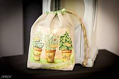 Úžitkový textil - Vrecko na bylinky No.1 - 4566375_