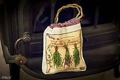 Úžitkový textil - Vrecko na bylinky No.3 - 4566434_