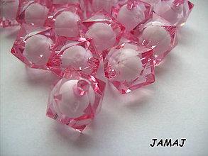 Korálky - ružové korálky - 4565280_