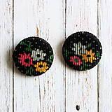 Buttony kvietky menčestrové 38 mm