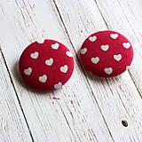 Buttony gombíky Malé srdiečka 38 mm