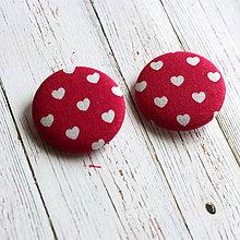 Materiál ručne robený - Buttony gombíky Malé srdiečka 38 mm - 4565753_