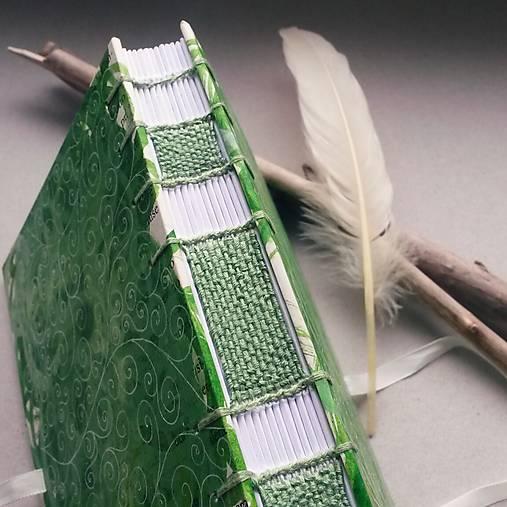 Papiernictvo - Spiral green (zápisník A6 zo série