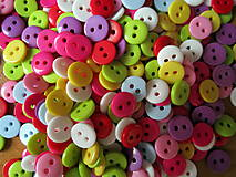 Galantéria - Plastové mini gombíky 9 mm- mix farieb - 4566051_