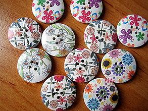 Galantéria - Kvetinové gombíky - mix - 4565991_