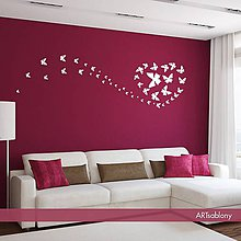 Dekorácie - (3544n) Nálepky na stenu - Ozdobný Motýľ II - 4569338_