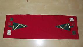 Úžitkový textil - Vianočný obrus - štóla STROMČEKY II. - 4568539_