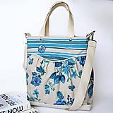 Kabelky - Miss fancy (blue flowers) - 4568442_
