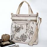 Kabelky - Miss fancy (beige flowers) - 4568477_