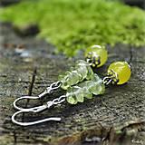 Náušnice - Olivy s citrónom - 4568900_