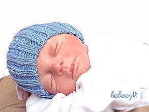 Detské čiapky - Čiapka modrá 40+ - 4568128_