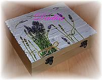 Krabičky - 12 priečinková krabica na čaj levandulová - 4567838_