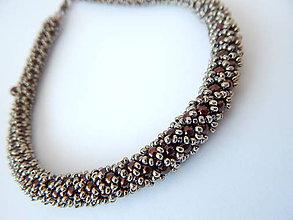 Náhrdelníky - Šitý náhrdelník - BYZANCIA - 4572923_