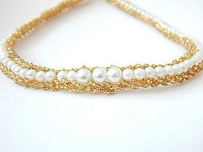 Náhrdelníky - Obojstranný šitý náhrdelník - Afrodita - 4573564_