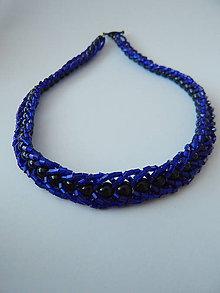 Náhrdelníky - Šitý náhrdelník - Noc v Paríži - 4573977_