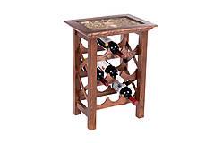 Drevený stolík na 9 vín.