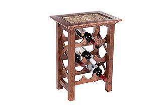Doplnky - Drevený stolík na 9 vín. - 4576147_