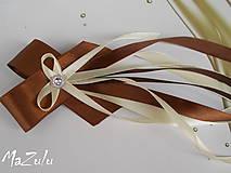 maslovo & hnedé svadobné pierko  pre starostu