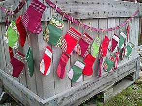 Dekorácie - Adventný kalendár- čižmičky - 4575863_