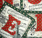 Úžitkový textil - Podložky pod hrnek - Noel - 4572280_