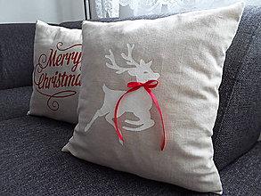 Úžitkový textil - Vianočná obliečka sob - 4572795_