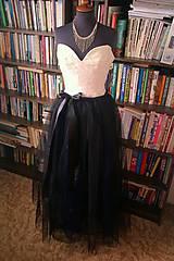 Svadba - čierna   plesová suknička  - 4574891_