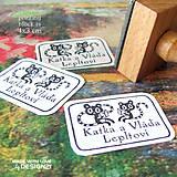 Drobnosti - Lemurci s knížkou: pečiatka 4x3 cm - 4575753_