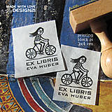 - Cyklistka: pečiatka 3x4 cm - 4575962_