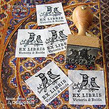Drobnosti - Vtáčky: pečiatka 3x3 cm - 4575773_