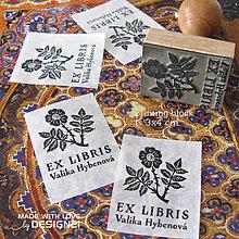 Drobnosti - Ruže: pečiatka 3x4 cm - 4576171_