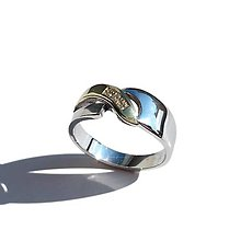 Prstene - Prstienok z bielo žltého zlata - 4574706_
