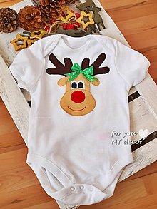 Detské oblečenie - VIANOČNÉ BODY *** VIANOCE SO SOBÍKOM/ body pre deti - 4573019_